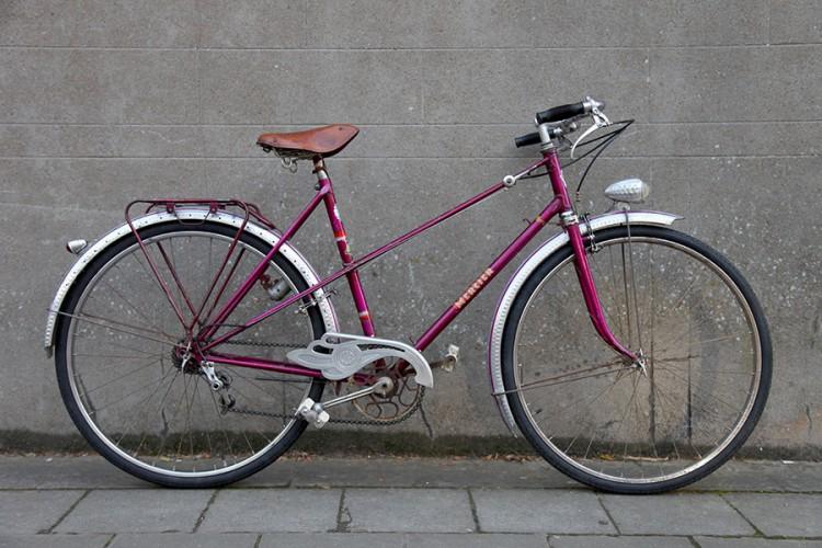 Vélo de ville mixte Mercier années 50